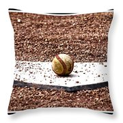 Field Of Dreams The Ball Throw Pillow by Susanne Van Hulst