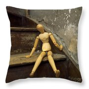 Figurine Throw Pillow by Bernard Jaubert
