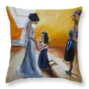 Final Touch Throw Pillow by Judy Kay