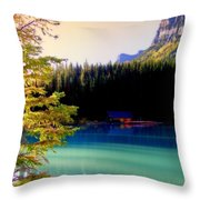Finding Inner Peace Throw Pillow by Karen Wiles