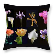 Fine Art Flower Photography Throw Pillow by Juergen Roth