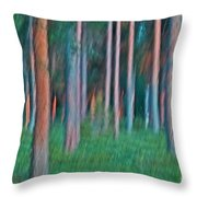 Finland Forest Throw Pillow by Heiko Koehrer-Wagner