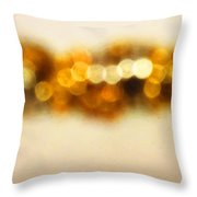 Fire Dance - Warm Sparkling Abstract Art Throw Pillow by Sharon Cummings