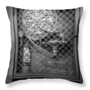 Fire Hose Bw Throw Pillow by Susan Candelario