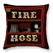Fire Hose Throw Pillow by Cheryl Young