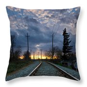 Fire On The Horizon Throw Pillow by Eti Reid