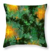Fireflies Throw Pillow by Lena Wilhite