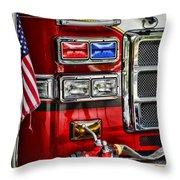 Fireman - Fire Engine Throw Pillow by Paul Ward