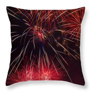 Firework Majesty  Throw Pillow by Garry Gay