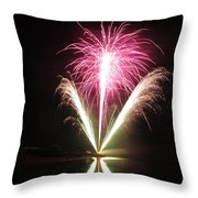 Fireworks At Cooks Throw Pillow by Donnie Freeman