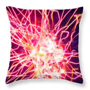 Fireworks At Night 6 Throw Pillow by Lanjee Chee