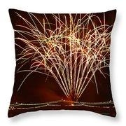 Fireworks At Tempe Town Lake Throw Pillow by Saija  Lehtonen