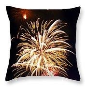Fireworks Throw Pillow by Elena Elisseeva