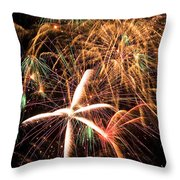 Fireworks Exploding Everywhere Throw Pillow by Garry Gay