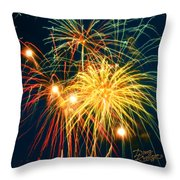 Fireworks Finale Throw Pillow by Doug Kreuger