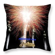 Fireworks Finale Throw Pillow by Frozen in Time Fine Art Photography
