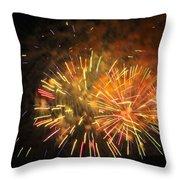 Fireworks IIi Throw Pillow by Tiffany Erdman