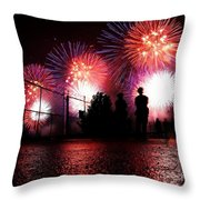 Fireworks Throw Pillow by Nishanth Gopinathan