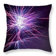 Fireworks - Purple Haze Throw Pillow by Scott Lyons