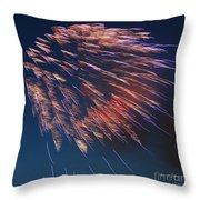 Fireworks Series I Throw Pillow by Suzanne Gaff