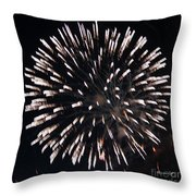 Fireworks Series X Throw Pillow by Suzanne Gaff