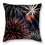 Fireworks Spectacular Throw Pillow by Jim and Emily Bush