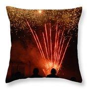 Fireworks Throw Pillow by Vonnie Murfin