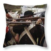 Firing Line Revolutionaries Throw Pillow by Mark Miller