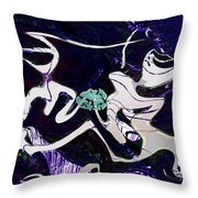 Firmament Cracked #11 Tapestry Of Pain Throw Pillow by Mathilde Vhargon