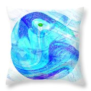 Firmament Cracked #7 - Beautiful Illusion Throw Pillow by Mathilde Vhargon