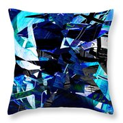 Firmament Cracked #9 - All Which Once Was Beautiful Throw Pillow by Mathilde Vhargon