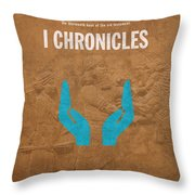 First Chronicles Books Of The Bible Series Old Testament Minimal Poster Art Number 13 Throw Pillow by Design Turnpike