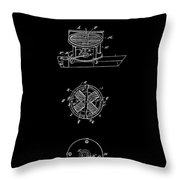 First Electric Motor 2 Patent Art 1837 Throw Pillow by Daniel Hagerman