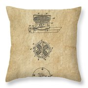 First Electric Motor 3 Patent Art 1837 Throw Pillow by Daniel Hagerman