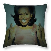 First Lady Throw Pillow by Brian Reaves