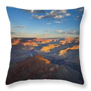 First Light On The Colorado Throw Pillow by Mike  Dawson