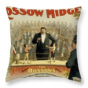 First Round Throw Pillow by Aged Pixel