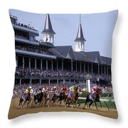 First Saturday In May - Fs000544 Throw Pillow by Daniel Dempster