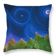 First Star Wish By Jrr Throw Pillow by First Star Art