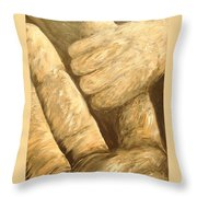 First Touch ...  Baby Finds You Throw Pillow by Eloise Schneider