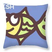 Fish Throw Pillow by Nursery Art