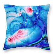 Fish Pond Throw Pillow by Anastasiya Malakhova
