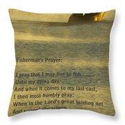 Fisherman's Prayer Throw Pillow by Robert Frederick