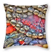 Fishing Bouys Throw Pillow by Heidi Smith