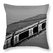 Fishing Dock Throw Pillow by Frozen in Time Fine Art Photography
