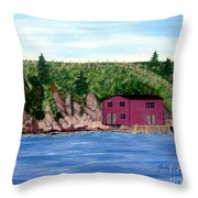 Fishing Gear Stage Throw Pillow by Barbara Griffin