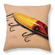 Fishing Lure Throw Pillow by Aaron Spong