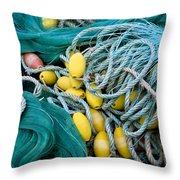 Fishing Nets Throw Pillow by Frank Tschakert