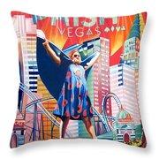 Fishman in Vegas Throw Pillow by Joshua Morton