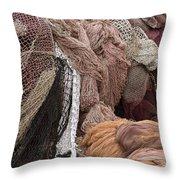 Fishnets Throw Pillow by Frank Tschakert
